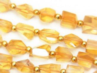 天然石卸 1連1,980円!宝石質シトリンAAA タンブルカット 1連(約18cm)