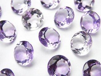 天然石卸 宝石質ピンクアメジストAAA 穴なしブリリアントカット9×9mm 5粒1,180円!