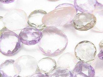 天然石卸 宝石質いろんな天然石AAA- マロン ブリオレットカット 半連/1連(約17cm)