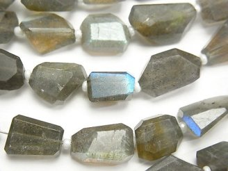 天然石卸 ラブラドライトAAA タンブルカット 半連/1連(約33cm)