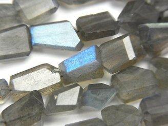天然石卸 ラブラドライトAAA タンブルカット 半連/1連(約38cm)