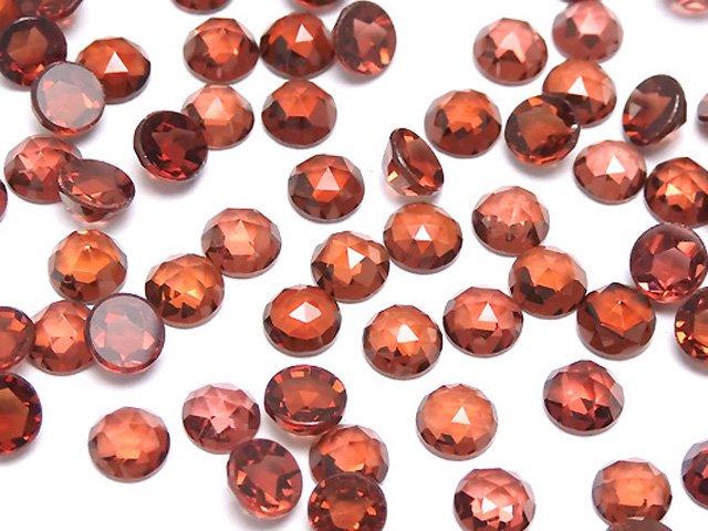 宝石質モザンビークガーネットAAA ラウンド ローズカット4×4×2mm 10粒