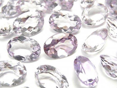 宝石質ピンクアメジストAAA 穴なしオーバルファセットカット14×10mm 3粒