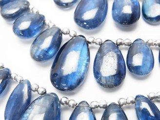 天然石卸 1連3,480円〜!宝石質カイヤナイトAAA- ペアシェイプ(プレーン) 1連(約17cm)