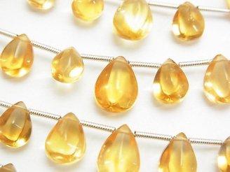 天然石卸 1連1,680円〜!宝石質シトリンAAA- 4面ペアシェイプ 1連(約15cm)