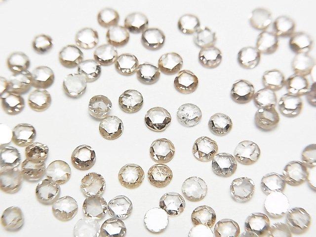 ライトブラウンダイヤモンド ラウンド ローズカット2.5mm 5粒3,980円!