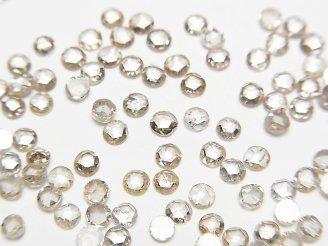 天然石卸 ライトブラウンダイヤモンド ラウンド型ローズカット2.5mm 5粒3,980円!