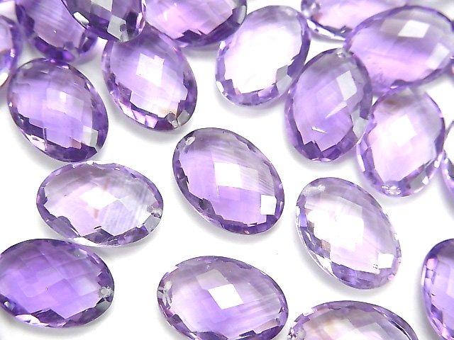 【粒売り】宝石質アメジストAA++ オーバルカット13×9mm 3粒