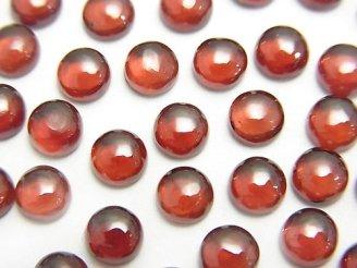 天然石卸 宝石質モザンビークガーネットAAA ラウンド型カボション5×5mm 5粒680円!