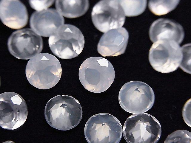 【動画】宝石質スコロライトAAA 穴なしラウンドファセットカット6×6mm 4粒
