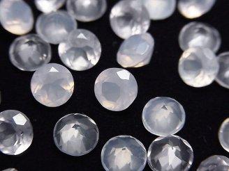 天然石卸 宝石質スコロライトAAA 穴なしラウンドファセットカット6×6mm 4粒1,980円!