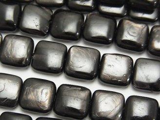 天然石卸 ハイパーシーンAAA スクエア10×10×5mm 半連/1連(約37cm)
