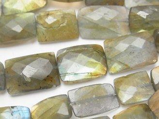天然石卸 1連1,980円〜!ラブラドライトAA++ レクタングルカット 1連(約18cm)