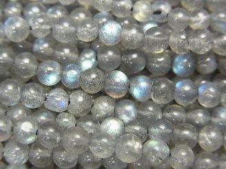 天然石卸 1連580円!宝石質ラブラドライトAAA- ラウンド3mm 1連(約36cm)