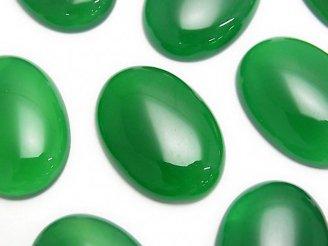 天然石卸 グリーンオニキスAAA オーバル カボション30×22mm 1個380円!