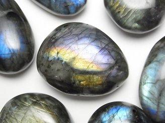 天然石卸 2個980円!ラブラドライトAA+ 大粒タンブル(穴なし) 2個