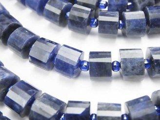 天然石卸 ソーダライトAA++ チューブカット9×9×6mm 半連/1連(約37cm)