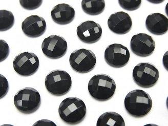 天然石卸 オニキス ラウンド カボションカット6×6mm 5個380円!
