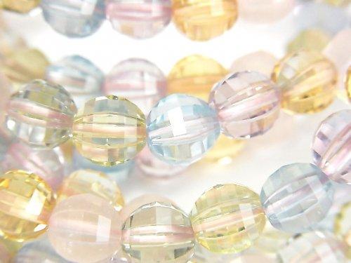 【動画】宝石質いろんな天然石AAA ミラーラウンドカット7mm 1連(ブレス)の画像