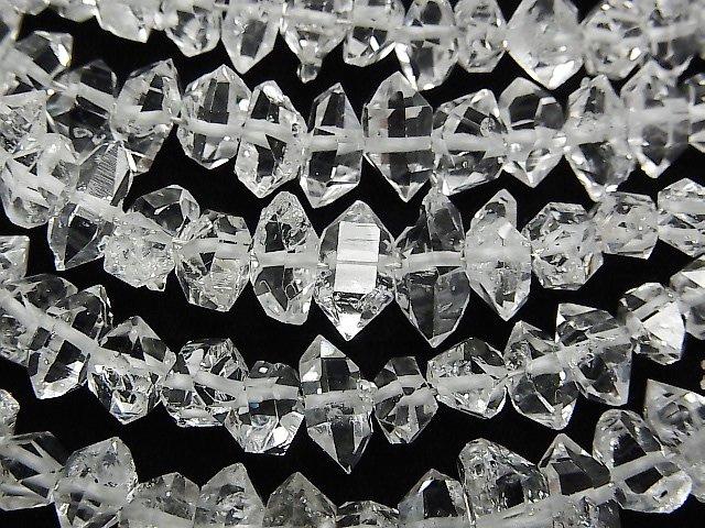 NY産ハーキマーダイヤモンドAAA ラフロック 【XLサイズ】 1連(約15cm)
