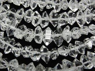 天然石卸 1連6,980円!NY産ハーキマーダイヤモンドAAA ラフロック 【XLサイズ】 1連(約15cm)