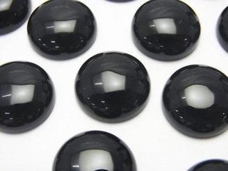 天然石卸 オニキスAAA ラウンド カボション16×16×6mm 3個380円!