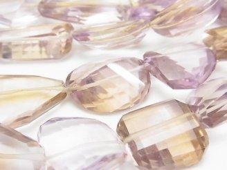 天然石卸 宝石質アメトリンAAA 大粒タンブルカット 半連/1連(約40cm)