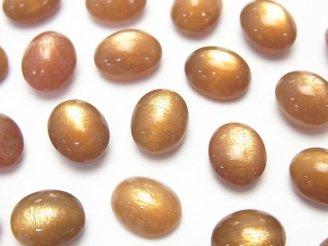 天然石卸 ゴールデンシャインムーンストーンAA++ オーバル カボション10×8mm 3個1,380円!