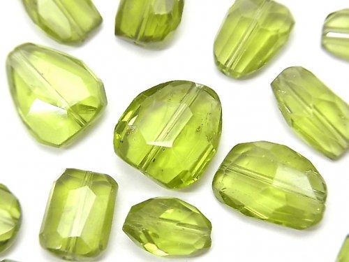 【動画】【粒売り】宝石質ペリドットAAA- 大粒タンブルカット 4個