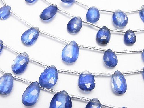 1連1,580円〜!宝石質カイヤナイトAAA- ペアシェイプ ブリオレットカット 1連(約16cm)