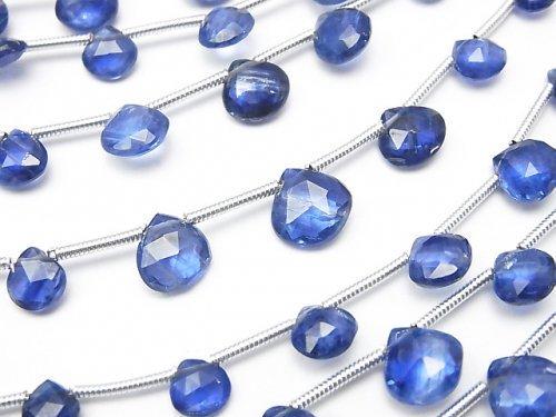 1連1,580円!宝石質カイヤナイトAAA- マロン ブリオレットカット 1連(約16cm)