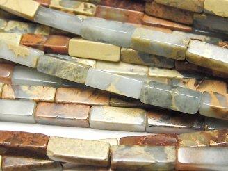 天然石卸 1連780円!インプレッションストーン 4面チューブカット13×4×4mm 1連(約38cm)