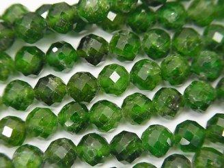 天然石卸 素晴らしい輝き!クロムダイオプサイドAA++ ラウンドカット6mm 1/4連〜1連(約35cm)