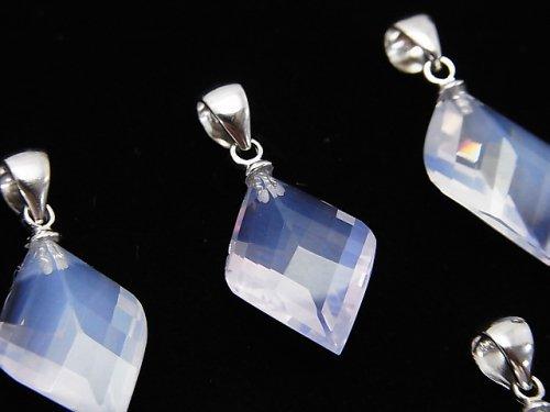 宝石質スコロライトAAA 4面×多面カット入りペンダントトップ 1個