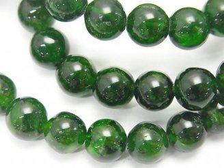 天然石卸 1連7,980円!宝石質クロムダイオプサイドAAA- ラウンド8mm 1連(ブレス)