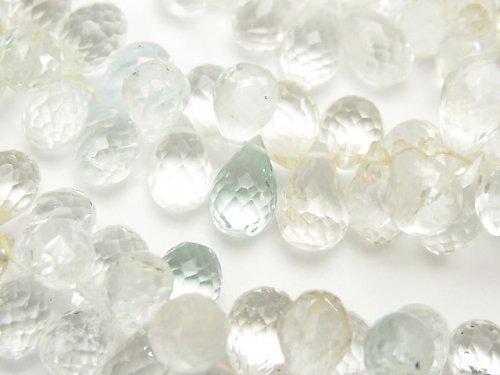 宝石質ベリルミックスAAA- ドロップ ブリオレットカット 半連/1連(約36cm)