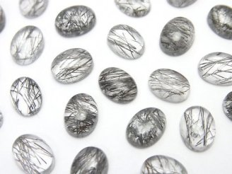 天然石卸 宝石質トルマリンクォーツAAA- オーバル カボション8×6mm 4個580円!