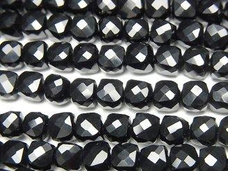 天然石卸 素晴らしい輝き!1連1,380円!オニキス キューブカット5×5×5mm 1連(約38cm)