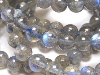 天然石卸 1連1,380円!ラブラドライトAAA- ラウンド6mm 1連(ブレス)
