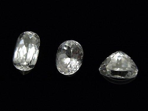 【1点もの】宝石質スポデューメンAAA ファセットカット 3粒セット NO.42