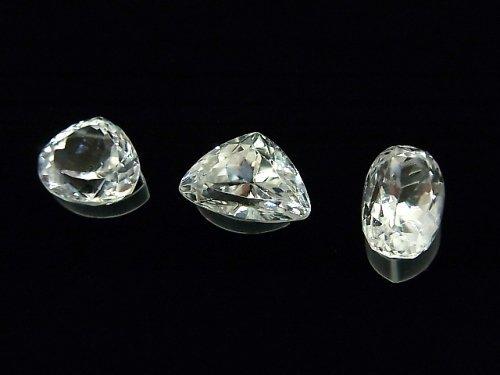 【1点もの】宝石質スポデューメンAAA ファセットカット 3粒セット NO.46