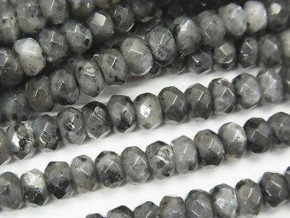 天然石卸 1連580円!ラルビカイト ボタンカット6×6×4mm 1連(約37cm)
