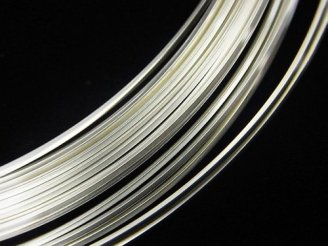Silver925 ハーフハードワイヤー スクエア 24GA(0.5mm)〜20GA(0.8mm)