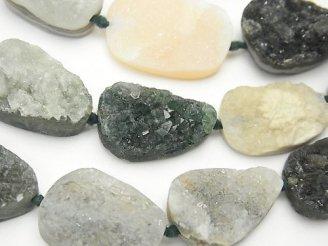 天然石卸 ドゥルージーオーシャンジャスパー タンブル 半連/1連(約36cm)