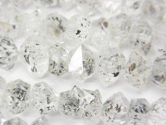 天然石卸 パキスタン産ダブルポイントクリスタル 【Mサイズ】 半連/1連(約38cm)