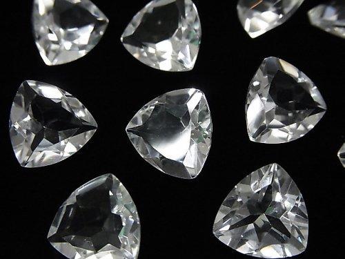 宝石質クリスタルAAA 穴なしトライアングルファセットカット12×12mm 5粒1,280円!