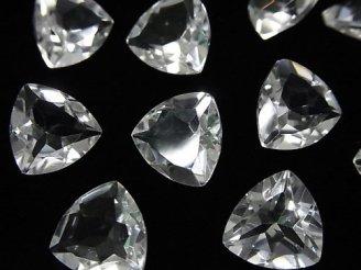天然石卸 宝石質クリスタルAAA 穴なしトライアングルファセットカット12×12mm 5粒1,280円!