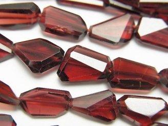 宝石質モザンビークガーネットAAA タンブルカット 1/4連〜1連(約40cm)