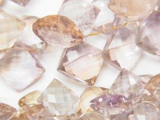 天然石卸 宝石質ライトカラーアメトリンAAA ダイヤカット 半連/1連(約18cm)