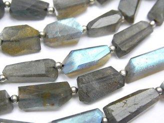 天然石卸 ラブラドライトAAA- タンブルカット 半連/1連(約36cm)